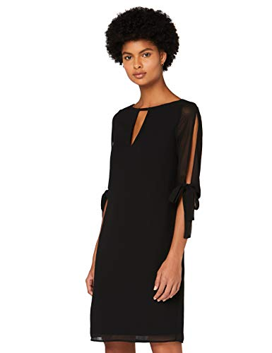 Marchio Amazon - TRUTH & FABLE Vestito A-Line in Chiffon Donna, Nero (Black), 50, Label: XXL