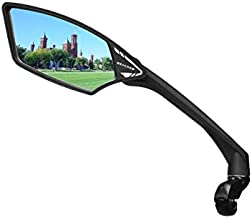 MEACHOW New Scratch Resistant Glass Lens,Handlebar Bike Mirror, Rotatable Safe Rearview Mirror, Bicycle Mirror, (Sliver Left Side) ME-006LS