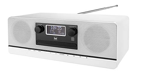Dual DAB 420 BT Weiß • Stereoanlage • DAB+ • UKW • Sendersuchlauffunktion • AUX-IN • USB-Anschluss • CD-Abspieler • MP3 • Senderspeicher • Fernbedienung • Kopfhöreranschluss