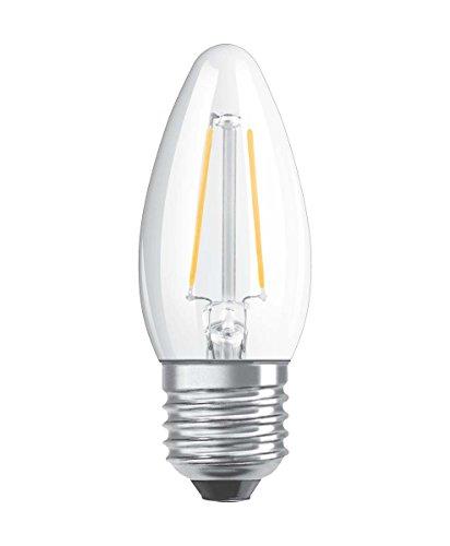Osram LED Retrofit Classic B Dim Lampe, Sockel: E27, Warm White, 2700 K, 5 W, Ersatz für 40-W-Glühbirne