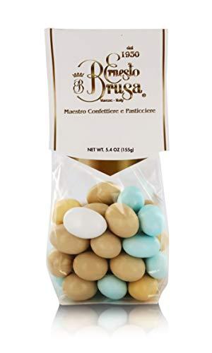 Ernesto Brusa Peladillas de Almendra Cubiertas de Chocolate Blanco con Sabor a Varios licores - 155 gr