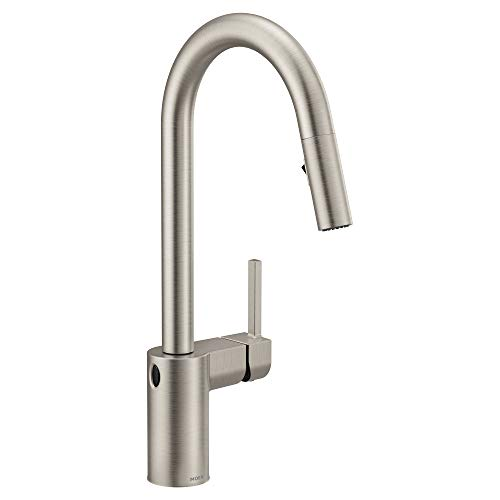 Moen 7565EWSRS Align Motionsense Wave Sensor Touchless One-Handle High Arc Modern Pulldown Kitchen...