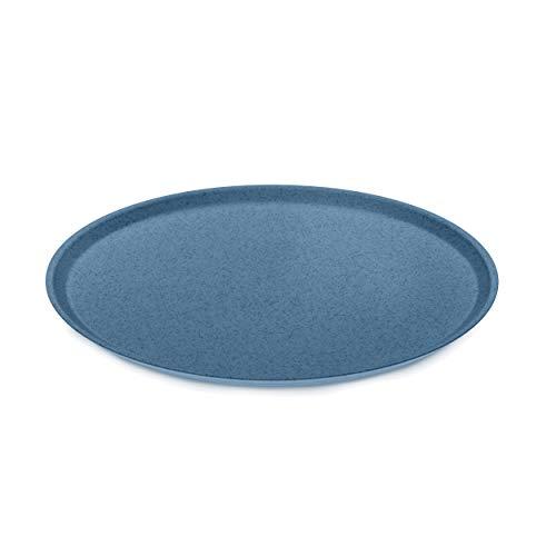 Koziol Großer Teller Connect, Speiseteller, Servierteller, Thermoplastischer Kunststoff, Organic Deep Blue, 25.5 cm, 3101675