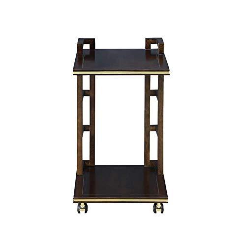 LUUDE 2 Tier Bureau Cart, mobiele tafel werkstation Afsluitbare Casters kunnen worden gebruikt als een eettafel opslag planken nachtkastjes bank Side tafels