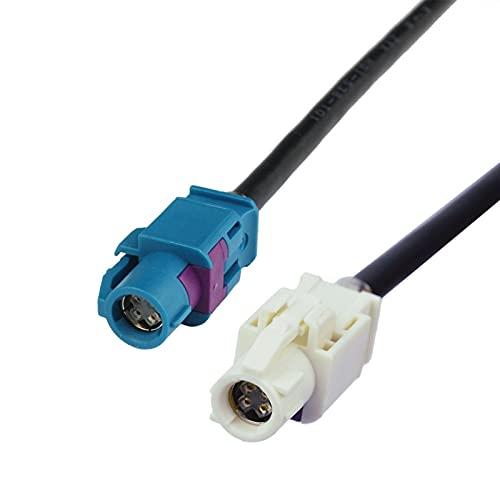 Qinndhto Accesorios de Coche RF Cable coaxial Fakra HSD Z A B Femenina Decar 353 Aptos para BMW E60 E90 E87 E70 COMBOX BMW CIC USB Cable Adaptadores