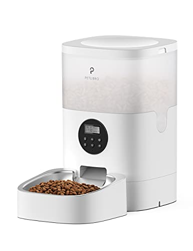PETLIBRO Automatic Cat Feeder, Timed Cat Feeder with Desiccant Bag for Dry Food, Programmable Portion Control 1-4 Meals per Day & 10s Voice Recorder for Small / Medium Pets (4L)