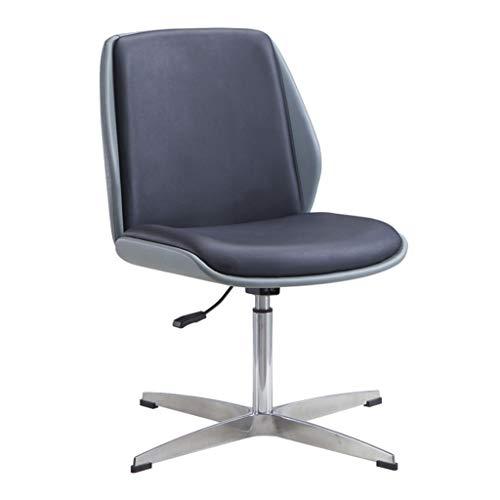 LIUDINGDING Chaise longue négociation Président Table et chaise Chaise de bar moderne ménages Simple Président de la Conférence Creative (Color : Gray-black fixed feet)