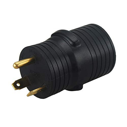EV Adapter NEMA TT-30P to 14-50R EV Electric Vehicle Adapter Charging Adapter TT-30 Male 30Amp to 14-50 Amp Female Power Adapter