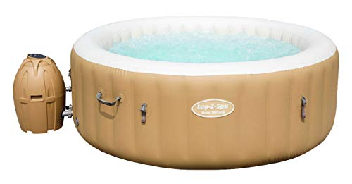 Bestway 54129 Spa gonflable Lay-Z-Spa™ Palm Springs, 4/6 places, diamètre 196 x 71 cm, 120 jets d'air, couverture isolante, filtration à cartouche, diffuseur Chemconnect™