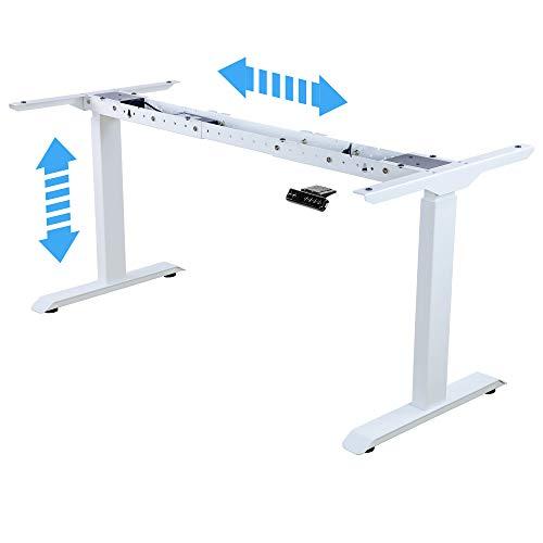 Albatros Schreibtisch-Gestell Lift, Weiss, 2X Motoren, elektrisch höhenverstellbar mit Memory-Funktion