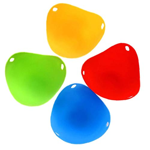 4 Pcs Silicone Egg Poacher Bowl Poaching Pods Egg Mold Rings Cooker Boiler Kitchen Cooking Tools