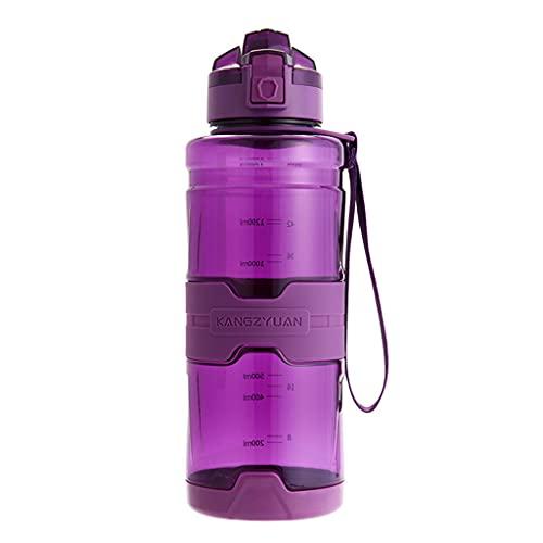 KOUJING Botella de agua deportiva de 1500 ml Tritan a prueba de fugas para gimnasio al aire libre Camping