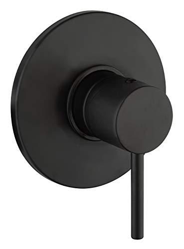 Paini Cox 78YO690TC - Grifo monomando para ducha de baño en latón, acabado negro mate