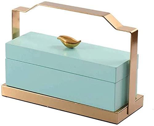 Caja de joyería hecha a mano de viaje organizador de joyas de almacenamiento para chica señora pendiente anillo collar colgante pulsera reloj pulsera - 34.5* 21* 12cm