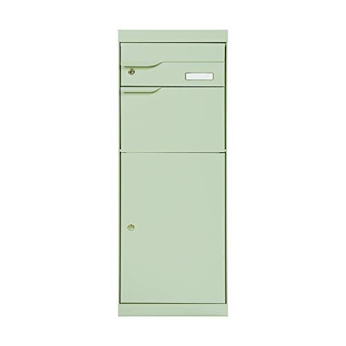 Renz 771051M MEFA pakketbrievenbus ETNA 771 met naamplaatje (kleur grijswit, brievenbus met slot, 1094 x 402 x 305 mm)