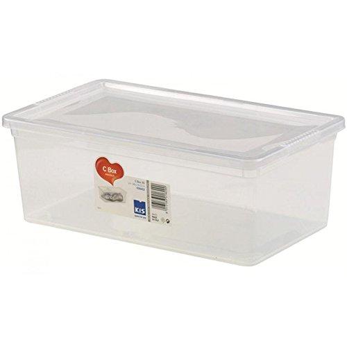 Kis 8415000 0202 06 Boîte de Rangement C Box 27 litres en Transparent, Plastique, 55x38,5x16,5 cm