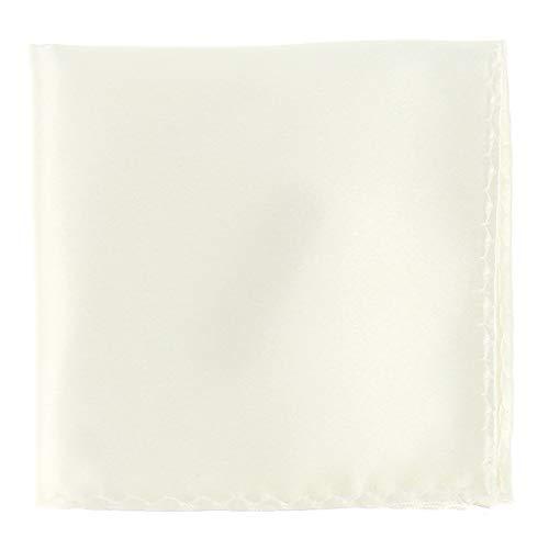 Pochette Costume Blanc Ivoire - Mouchoir de Poche Homme Blanc Ivoire - Accessoire Carré Poche de Veste - Mariage, Cérémonie