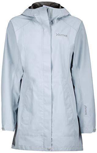 Marmot Damen Regenjacke, leicht, wasserdicht, Gore-Tex mit Paclite-Technologie, Silber, Größe M