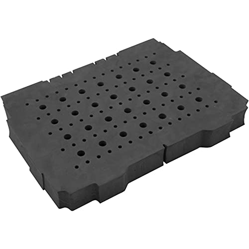 """Fulton Foam Router Bit Storage Tray for Festool Systainer 1 Accepts 103 Total Bits (75 each ¼"""" Shank & 28 each ½"""" Shank Bits)"""