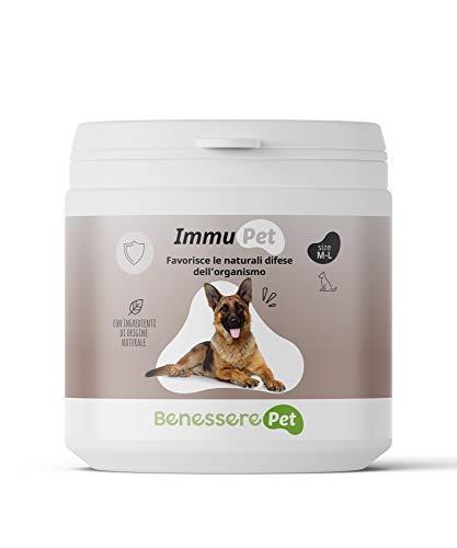DYNAMOPET Benessere Pet Immu Suplemento defensas para Perros 200gr, promueve Las defensas Naturales del organismo, Suplemento para el Sistema inmunológico de los Animales