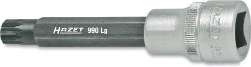 Hazet 990LG-8 Schraubendreher-Einsatz, s: 8, Innenvierkant 12,5 mm (1/2 Zoll), Innen Vielzahn XZN