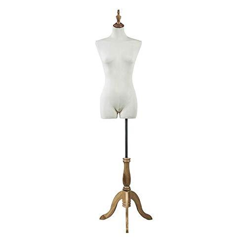 HUIYUAN Modell Requisiten Weibliches Mannequin Torso Körper Mit Holz Großen Stativ-Kopf-Abdeckung for Kleidung Brautkleid Schmuck-Anzeigen