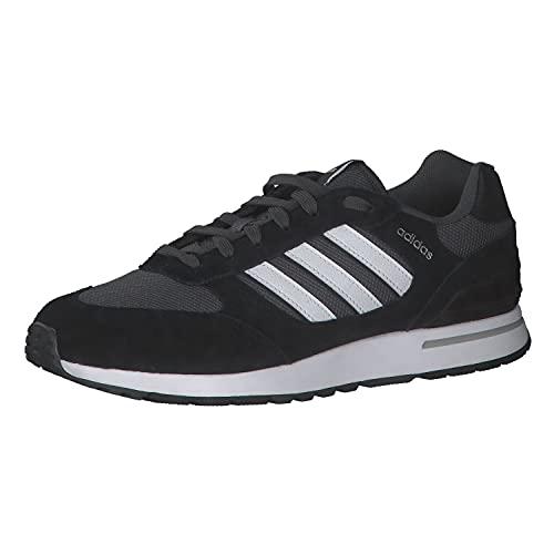 adidas Run 80s, Zapatillas de Running Hombre, NEGBÁS/FTWBLA/GRISEI, 41 1/3 EU