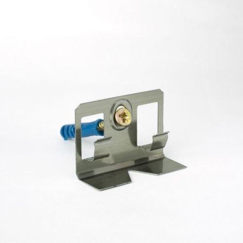 Clips de montaje para zócalos de madera maciza