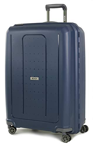 Rock Coblat II Clip Lock Large 75cm Hardshell 8 Wheel Spinner Suitcase Navy