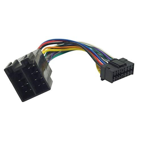 FEELDO Adaptador de mazo de cables para radio estéreo de coche para Sony conector de 16 pines en radio a conector ISO 10487 en coche
