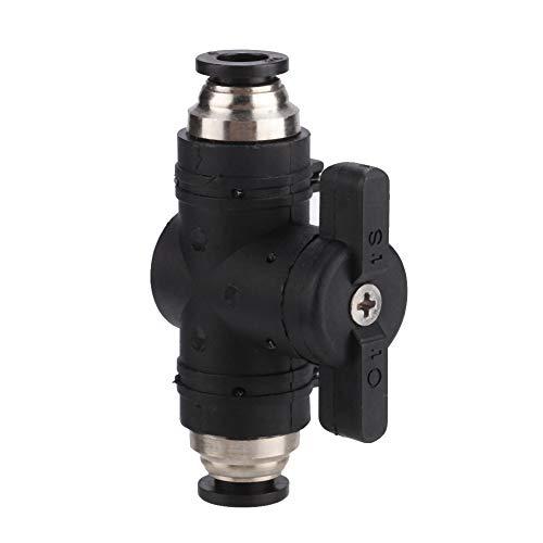 Pssopp Régulateur de débit d'air à 2 Voies avec vanne CO2 pour Aquarium Valve de Commutation Manuelle pour tuyaux de 6 mm