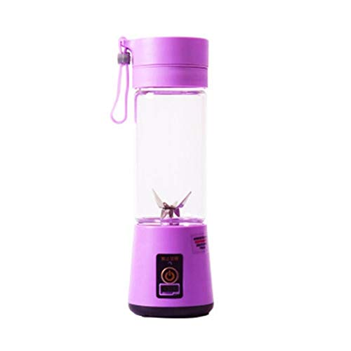 ZHANGNING Juicer Tamaño portátil USB Fruta eléctrica Juicer Handheld Maker Maker Blender Right Recargable Mini Portátil Jugo Taza Agua Juicer centrífugo (Color : Purple)