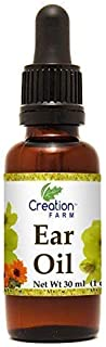 Creation Farm Ear Drops, Herbal Oil Relief for Earwax Removal, Earache, Itchy Irritated, Clogged or Dry Ears- Safe for Children, Infection Prevention Holistic Herbs Grown and Made in USA
