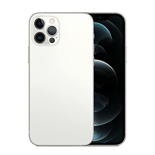 Android 4G Desbloqueado Smartphone A12promax 6.7 Pulgadas 3 Cámaras 2GRAM + 16G ROM Dual SIM Llamada Gota de Agua Pantalla Táctil Teléfono(incluida la Tarjeta de Memoria Del Teléfono Móvil 128G),White