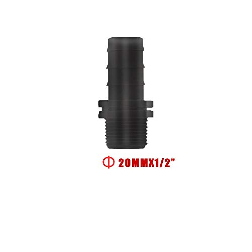 Nologo Gxbld-yy 20 Pcs Sprinkler Irrigation16MM / 20MM Barb Connect connecteurs Tuyau d'eau Tuyau Joiner système Goutte à Goutte for 1/2 (Couleur : 20, Taille : Other)
