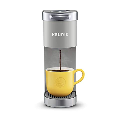Keurig K-Mini Plus Coffee Maker, Single Serve K-Cup Pod Coffee Brewer, Comes With 6 to 12 Oz. Brew Size, K-Cup Pod Storage, and Travel Mug Friendly, Studio Gray