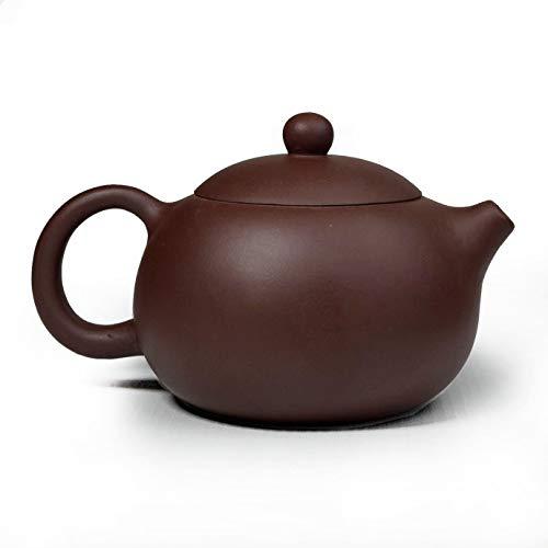 Teekanne, 266 ml, chinesischer Yixing-Zisha-Ton, Xishi-Topf, Keramik, lila Sand, Schlamm, Kungfu Wasserkocher, Filter für losen Tee