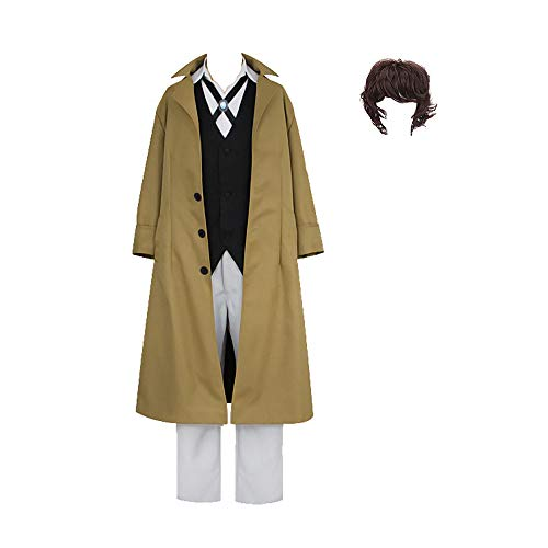 Shihong-G Bungo Stray Dogs Cosplay Kostüm Anime Dazai Osamu/edogawa Ranpo Cosplay Kostüm Halloween Karneval Cosplay Outfit Mantel Detektiv Uniform Anzüge Komplettset