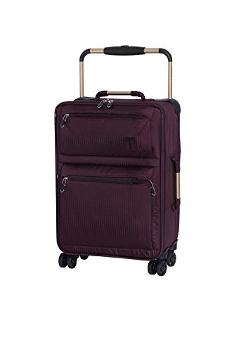 IT Luggage World's Lightest 55cm Carry-on Four Wheel Spinner Suitcase Burgundy