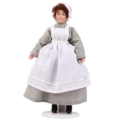 hong Casa de muñecas de 6 Pulgadas, casa de muñecas de Porcelana, sirvienta Victoriana, cerámica Decorativa en Miniatura para niños y Adultos(Chef)