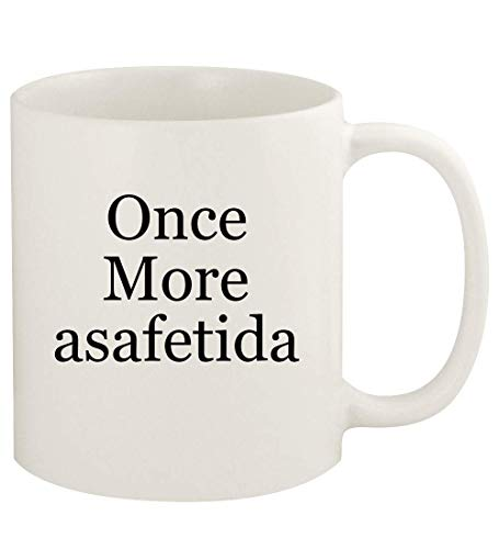 Once More asafetida - 11oz Ceramic White Coffee Mug Cup, White