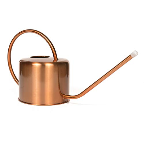 Homarden Copper Colored Watering Can for Outdoor and Indoor House Plants, 40oz