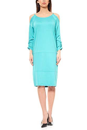 B.C. Best Connections B.C. by Heine Sommer-Kleid Kleid knielanges Shirtkleid Jerseykleid Grün, Größenauswahl:38