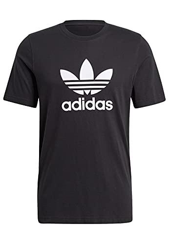 adidas Trefoil, Maglietta Uomo, Nero Bianco, L