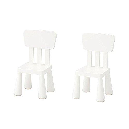 Ikea Mammut - Silla infantil para interior y exterior, color blanco (2 unidades)