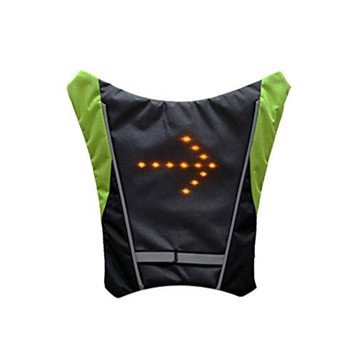 Wakauto Giubbotto Riflettente con Indicatore di Direzione a LED Borsa da Sella per Bici Widget di...