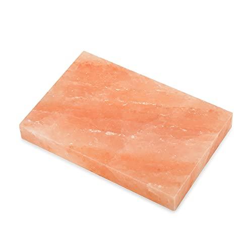 Onlyfire Bloque de Sal, Plancha de Sal para Barbacoa,iedra de Sal de Cocina Natural del Himalaya para cocinar Carne y Verduras(30.5 * 20.3CM)