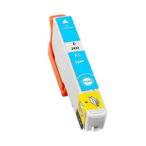 T2432 Cartuccia Compatibile Ciano per Epson 24XL XP 55 750 760 850 860 950 960