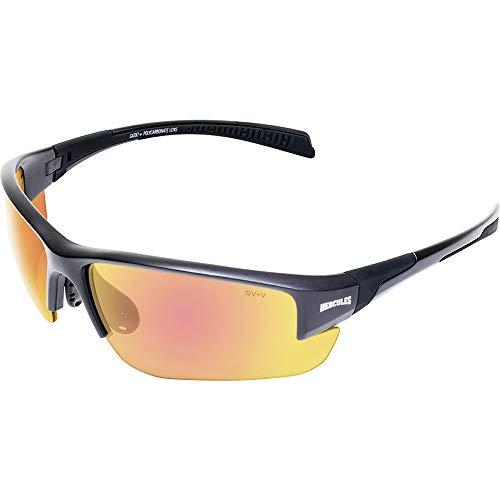 Global Vision Eyewear 24 HERC 7 GTR A/F Hercules 7 24 Anti-Fog Sunglasses, Photochromic G-Tech Red Lens, Black