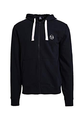 Sergio Tacchini New Elbow Sweater - Chaqueta con capucha para hombre azul y blanco L